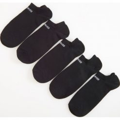 Kapcie męskie: 5 pack krótkich skarpetek – Czarny