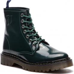 Trapery TRUSSARDI JEANS - 79A00276 G215. Zielone buty zimowe damskie Trussardi Jeans, z jeansu. Za 709,00 zł.