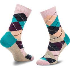 Skarpety Wysokie Unisex HAPPY SOCKS - ARY01-3003 Kolorowy. Szare skarpetki męskie Happy Socks, w kolorowe wzory, z bawełny. Za 34,90 zł.