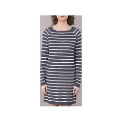Sukienki krótkie Only  LAURINA. Szare sukienki mini marki ONLY, s, z bawełny, casualowe, z okrągłym kołnierzem. Za 103,20 zł.