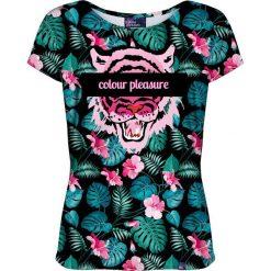 Colour Pleasure Koszulka damska CP-034 259 różowo-zielona r. XS/S. Czerwone bluzki damskie Colour pleasure, s. Za 70,35 zł.