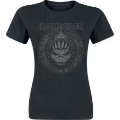 Iron Maiden Book Of Souls Skull Koszulka damska czarny. Czarne bluzki z odkrytymi ramionami Iron Maiden, l, z nadrukiem, z okrągłym kołnierzem. Za 74,90 zł.