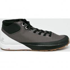 Salomon - Buty Acro Chukka. Szare buty trekkingowe męskie marki Salomon, z gore-texu, na sznurówki, outdoorowe, gore-tex. W wyprzedaży za 499,90 zł.