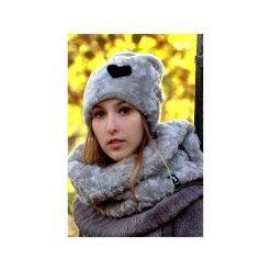 Czapka CHAPOOSIE Silver Pooh & HEART Beanie. Szare czapki damskie Chapoosie, z aplikacjami, z bawełny. Za 116,10 zł.