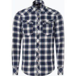 G-Star - Koszula męska, niebieski. Niebieskie koszule męskie na spinki G-Star, l, z bawełny. Za 449,95 zł.
