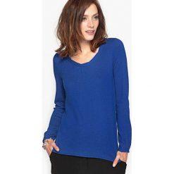 Kardigany damskie: Sweter z fantazyjnym dekoltem z wełny i alpaki