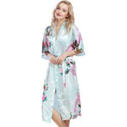 Szlafroki kimona damskie: Szlafrok w kolorze niebieskim
