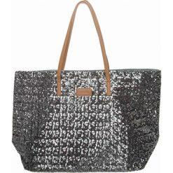 Shopper bag damskie: Shopper bag w kolorze srebrno-szarym – 54 x 34 x 19 cm