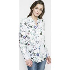 Tommy Hilfiger - Koszula. Szare koszule wiązane damskie TOMMY HILFIGER, z tkaniny, casualowe, z długim rękawem. W wyprzedaży za 269,90 zł.