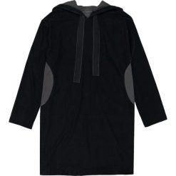 Sukienki: Sukienka bluza z weluru z kapturem