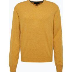 Andrew James - Sweter męski z czystego kaszmiru, żółty. Żółte swetry klasyczne męskie Andrew James, l, z kaszmiru, z dekoltem w serek. Za 379,95 zł.