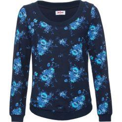 Bluza z nadrukiem, długi rękaw bonprix ciemnoniebieski z nadrukiem. Niebieskie bluzy z nadrukiem damskie bonprix, z długim rękawem, długie. Za 54,99 zł.