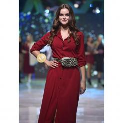 Bordowa Sukienka Tract. Czerwone sukienki hiszpanki Born2be, uniwersalny, z koszulowym kołnierzykiem, koszulowe. Za 109,99 zł.