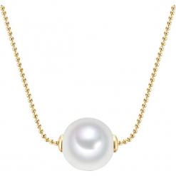 Naszyjnik z perłami - dł. 42 cm. Żółte naszyjniki damskie marki METROPOLITAN, pozłacane. W wyprzedaży za 45,95 zł.