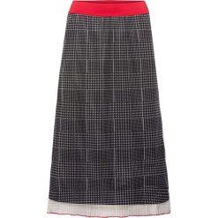 Spódnica bonprix czarny w kratę. Czarne spódnice wieczorowe bonprix. Za 54,99 zł.