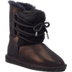Buty EMU AUSTRALIA - Sorby W11789 Black Metallic. Czarne buty zimowe damskie EMU Australia, ze skóry, na niskim obcasie. Za 769,00 zł.