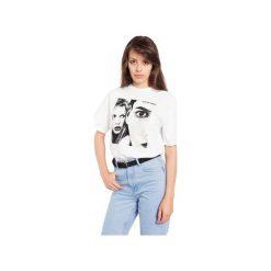 T-SHIRT CUTE BUT PSYCHO. Białe t-shirty damskie Rebeka, m, z nadrukiem. Za 49,00 zł.