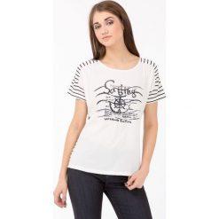 T-shirty damskie: T-shirt w marynarskim stylu