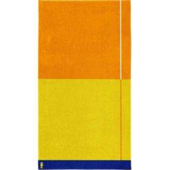 """Kąpielówki męskie: Ręcznik plażowy """"Block"""" w kolorze żółto-pomarańczowym"""
