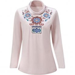 Bluzka w kolorze jasnoróżowym. Czerwone bluzki damskie marki Zeraco, ze stójką. W wyprzedaży za 199,95 zł.