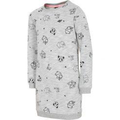 Sukienki dziewczęce: Sukienka dla małych dziewczynek JSUDD103A – chłodny jasny szary