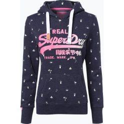 Bluzy damskie: Superdry - Damska bluza nierozpinana, niebieski