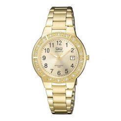 Zegarki damskie: Zegarek Q&Q Damski  A459-003 Cyrkonie Biżuteryjny Data