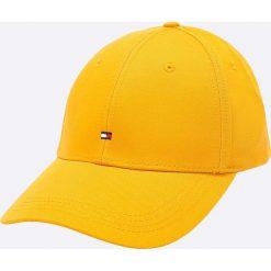 Tommy Hilfiger - Czapka. Pomarańczowe czapki z daszkiem męskie TOMMY HILFIGER, z bawełny. W wyprzedaży za 99,90 zł.
