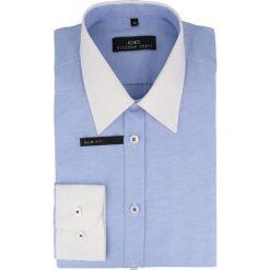 Koszula ARMANDO slim 14-05-24. Białe koszule męskie na spinki marki bonprix, z klasycznym kołnierzykiem. Za 149,00 zł.