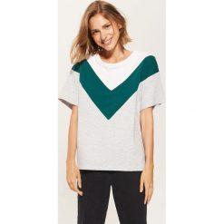 T-shirt oversize - Jasny szar. Niebieskie t-shirty damskie marki House, m. Za 49,99 zł.