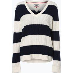 Tommy Jeans - Sweter damski, niebieski. Niebieskie swetry klasyczne damskie Tommy Jeans, xs, z dzianiny. Za 449,95 zł.