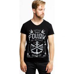 Męski T-shirt MF Instinct. Czarne t-shirty męskie z nadrukiem Astratex, m, z bawełny. Za 49,99 zł.