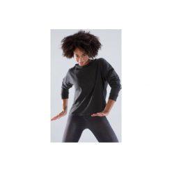 Bluza z kapturem do tańca damska. Czarne bluzy sportowe damskie marki DOMYOS, z bawełny, z kapturem. Za 79,99 zł.