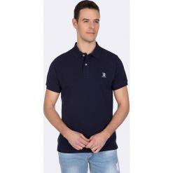 Koszulka polo w kolorze granatowym. Niebieskie koszulki polo Giorgio di Mare, m, z haftami, z bawełny. W wyprzedaży za 108,95 zł.