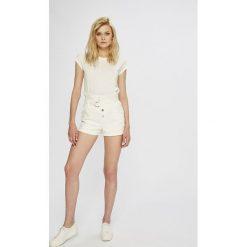Morgan - Szorty. Szare szorty jeansowe damskie marki Morgan, w paski, casualowe. W wyprzedaży za 129,90 zł.