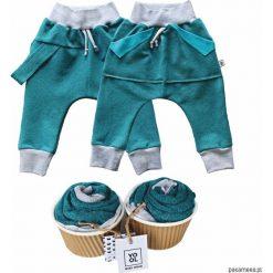 Odzież dziecięca: Spodnie baggy szelki + kangurek 2 pack aqua