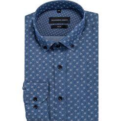 Koszula SIMONE slim KDGS000414. Szare koszule męskie na spinki Giacomo Conti, m, z bawełny, button down. Za 169,00 zł.