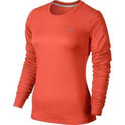 Nike Koszulka damska Miler Long Sleeve pomarańczowa r. XS (686904 842). Brązowe topy sportowe damskie Nike, xs. Za 100,00 zł.