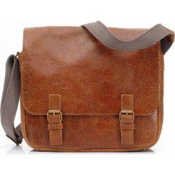 CASPER Skórzana Torba camel brąz DAAG. Brązowe torby na laptopa marki daag, w paski, ze skóry, duże. Za 369,00 zł.