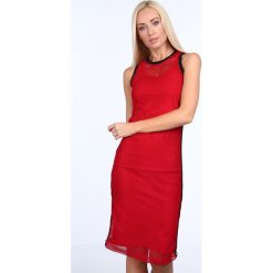 Sukienka z siatką czerwona 3967. Czerwone sukienki Fasardi. Za 69,00 zł.