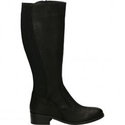 Kozaki - 7663 BLACK. Czarne buty zimowe damskie Venezia, z nubiku. Za 439,00 zł.