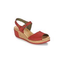 Sandały El Naturalista  LEAVES. Czerwone sandały damskie El Naturalista. Za 383,20 zł.