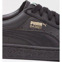 Puma BASKET CLASSIC Tenisówki i Trampki blackteam gold. Czarne trampki męskie Puma, z materiału. Za 339,00 zł.