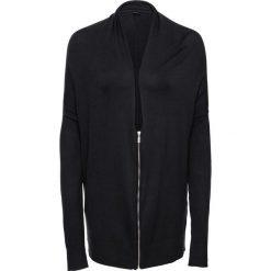 Sweter rozpinany z zamkiem oversize bonprix czarny. Białe kardigany damskie marki Reserved, l. Za 79,99 zł.