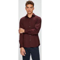 Pierre Cardin - Koszula. Brązowe koszule męskie na spinki marki Pierre Cardin, m, z bawełny, z włoskim kołnierzykiem, z długim rękawem. W wyprzedaży za 259,90 zł.