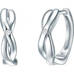 Powlekane kolczyki-kreole z diamentami. Szare kolczyki damskie Stylowa biżuteria, z diamentem, srebrne. W wyprzedaży za 173,95 zł.