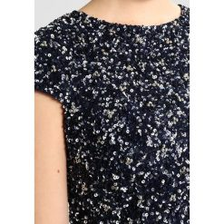 Bluzki asymetryczne: Lace & Beads Curvy CAP SLEEVE SEQUIN Bluzka midnight