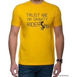 Koszulka T-SHIRT Trust me. Pomarańczowe t-shirty męskie z nadrukiem Pakamera, m. Za 75,00 zł.