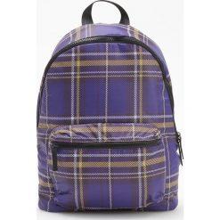 Plecak w kratę - Fioletowy. Fioletowe plecaki damskie Reserved. Za 89,99 zł.