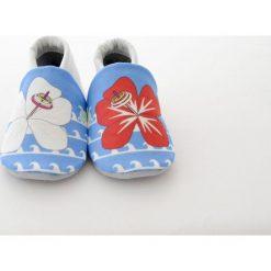 Miękkie buciki Aloha. Szare buciki niemowlęce chłopięce Pakamera, z bawełny. Za 70,00 zł.